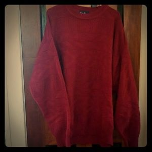Other - Maroon cable knit sweater
